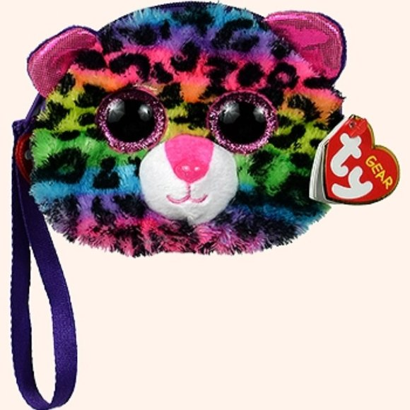 TY Gear Wristlet 5 inch - New DOTTY the Rainbow Leopard